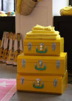 Yellow luggage!