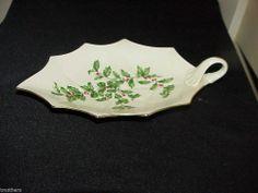 """Lenox Holiday Leaf 10"""" Handled Leaf Dish"""