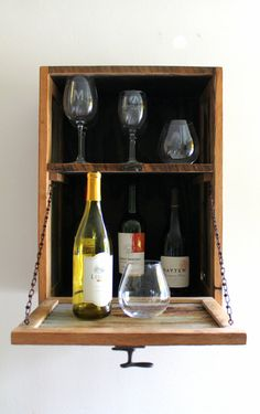Elegant Hanging Liquor Cabinet