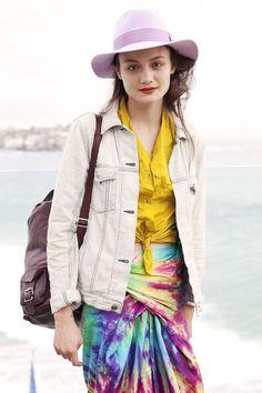 The Bec & Bridge x Akubra 'Bianca Adventurer Fedora' a limited edition collaboration. Rachel Rutt wears Lilac.