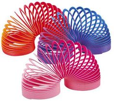 Slinky. The perfect toy. I have one on my desk at work for when I'm talking on the phone - it keeps my hand busy.
