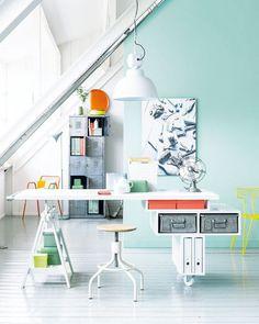 Flexplek - Flexible workspace Kijk op www.101woonideeen.nl #tutorial #howto #diy #101woonideeen #flexplek #workspace #flexible