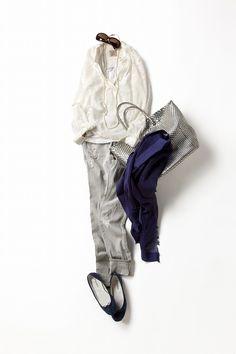 コーディネート詳細(華があって、 ちょっと小粋な シルバー×ネイビー)| Kyoko Kikuchi's Closet|菊池京子のクローゼット