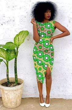 green ankara dress, African fashion, Ankara, kitenge, African women dresses, African prints, African men's fashion, Nigerian style, Ghanaian fashion, ntoma, kente styles, African fashion dresses, aso ebi styles, gele, duku, khanga, krobo beads, xhosa fashion, agbada, west african kaftan, African wear, fashion dresses, african wear for men, mtindo #Africanfashion