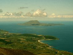 Visit Ireland.  (A View of Clare Island from the Top of Croagh Patrick Photographic Print)