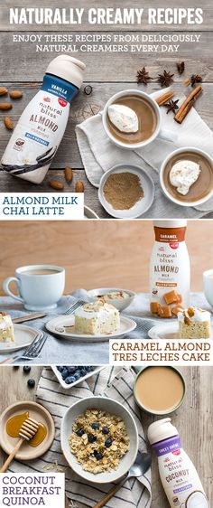 See how our delectable natural bliss Almond & Coconut Milk Creamers transform more than just coffee. Using natural flavors and real almonds and coconuts, these recipes are perfect for breakfast, lunch and dinner. Try these delicious recipes that are easy-to-make from natural bliss® today!