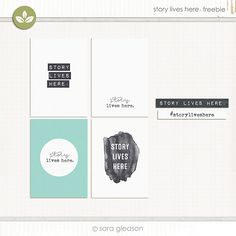 Story Lives Here Free Project Life Cards