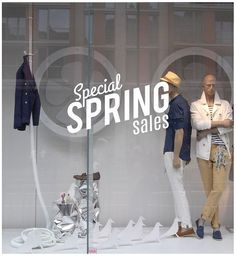 Special Spring Sales Shop Window decal easy to paste or remove - shop window display - ask us for custom decals by cutnpasteshop