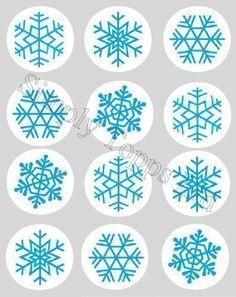 Décoration Gateau Motif Flocon De Neige Noel Bleu Papier De Riz Comestible 40mm Lot x12: Amazon.fr: Cuisine & Maison