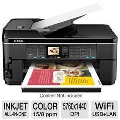 Epson WorkForce WF-7510 Wireless All-in-One Wide-Format Color Inkjet Printer, Copier, Scanner, Fax (C11CA96201) ---  http://www.shopprice.ca/multifunction+printer