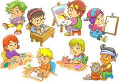 several stickers of children, Child Euclidean Illustration, Children in school transparent background PNG clipart