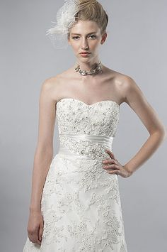 Style #: 6847  like the lace and little stones in dress and the cut of the dress