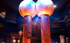 Museum of Science in Boston, Massachusetts. Featuring the world's largest air-insulated Van de Graaff generator.