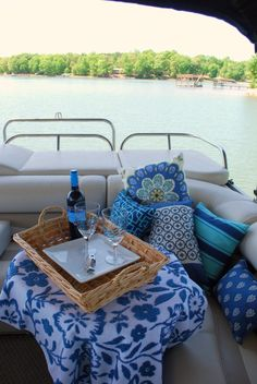Pontoon Picnic (Home is where the boat is we are so getting one this summer can't wait
