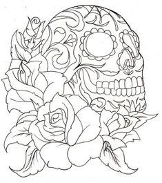 sugar skull coloring page printable coloring pages - Skull Coloring Pages For Adults