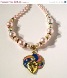 SALE  Mardi Gras Jewelry  Pink Pearl Mardi by JewelryDesigns2Di4, $18.71