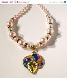 SALE  Mardi Gras Jewelry  Pink Pearl Mardi by JewelryDesigns2Di4, $18.71