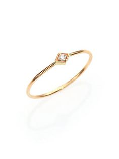 Zoe Chicco - Diamond & 14K Yellow Gold Midi Ring