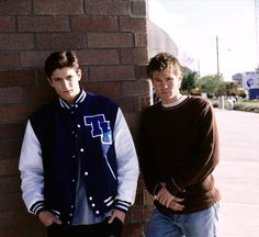 #OneTreeHill: Season 1 Promotional Photoshoot - James Lafferty and Chad Michael Murray.