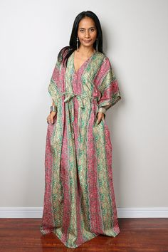 African Dress / Caftan Dress with African Print : Bohemian Kaftan Collection No.1