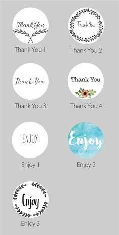 thank you enjoy general label ideas for birthday party baby shower bridal shower