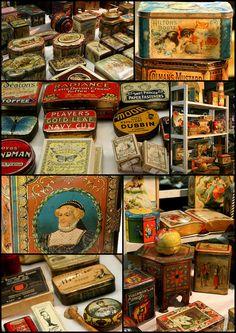 https://flic.kr/p/6uLj7g | Antique tins - collage | @ Newark International Antiques and Collectors Fair