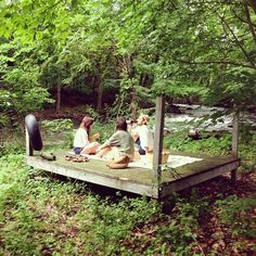 a picnic platform behind the house?