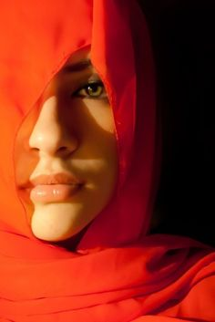red veiled arab beauty (via WanderWorldWonderLust @Jane potter)