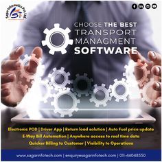 Grow your audience and also revenue in the Transport Business market by choosing the best efficient Transport Management Software. For more details contact us @ +91-9311746788, +91-9311133772, or visit here: www.sagarinfotech.com #CloudbasedSoftware #Logistics #Transportation #Improve #Operations #TransportationManagementSoftware #TransportSoftware #LogisticsSoftware #OnlineSoftware #TransportManagementSoftware #LogisticsManagementSoftware Driver App, Fuel Prices, Cloud Based, Supply Chain, Business Marketing, Communication, Transportation, Software, Management