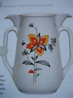 nice Arabian pitcher Vintage Designs, Retro Vintage, Nature Decor, Finland, Scandinavian, Pottery, Colours, Ceramics, Tableware