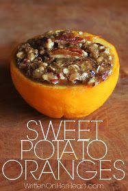 This sweet potato casserole stuffed in orange bowls is sooooo good. Perfect thanksgiving food!