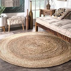 The Gray Barn Dry Creek Eco Natural Fiber Braided Reversible Jute Area Rug - Best Rugs - Ideas of Best Rugs - The Gray Barn Dry Creek Eco Natural Fiber Braided Reversible Jute Area Rug Meditation Mat, Round Area Rugs, Jute Rug, Seagrass Rug, Woven Rug, Natural Rug, Natural Brown, Natural Beauty, Home And Deco