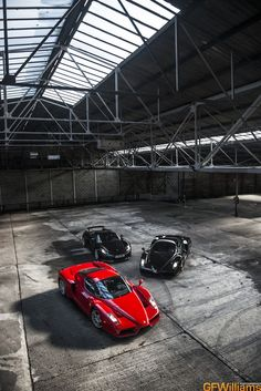 Stunning GFWilliams photo shoot! Hit the pic to see the black Ferrari Enzo do some donuts!
