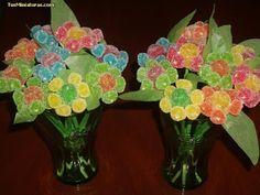 MIS PEQUEÑAS COSAS: Ideas con gominolas - Flores.