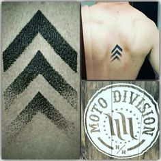 Chevron tattoo back piece Hart and Huntington Niagara Falls