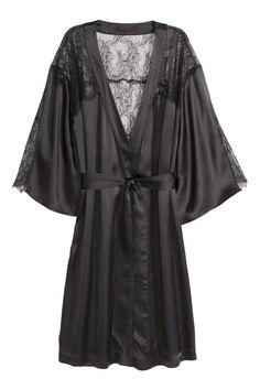 Kimono z jedwabiu i koronki | H&M