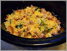 Slow Cooker Western Egg Casserole from Andrea Dekker  Make 2 of these, slightly different meats, for the shower.