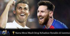 Cristiano Ronaldo pergi meninggalkan Real Madrid untuk bergabung dengan Juventus. Namun nama Lionel Messi masih mengiringi dirinya.