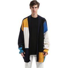 Danilo Paura Men Oversized 17 Intarsia Wool Knit Cardigan (11.215.910 IDR) ❤ liked on Polyvore featuring men's fashion, men's clothing, men's sweaters, multicolor, mens sweaters, mens cable knit cardigan sweater, mens wool sweaters, mens cardigan sweaters and mens wool cardigan sweater
