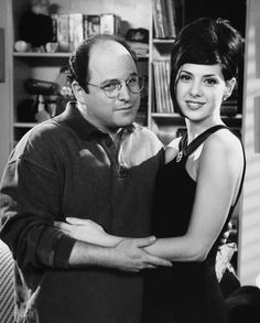 """George: """"I have never been anyone's type! But, apparently, Marisa Tomei loves funny, quirky, bald men!"""" """"So, tell me, how is it that a man like you, so bald, and so quirky and funny, how is it you're not taken."""" #Seinfeld S7 Ep14&15"""