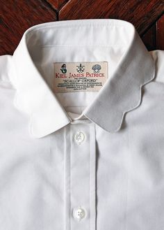 Kiel James Patrick - scallop oxford in white. Bday present please and thank you. Haha I've had my eye on this shirt forever!