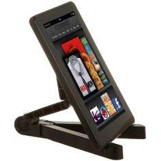 AmazonBasics - Soporte de viaje plegable para iPad 2, Samsung Galaxy Tab 10.1 y 7.0, Kindle Fire y Kindle Touch, color negro: Amazon.es: Electrónica
