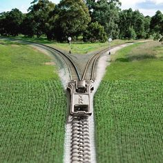 photoshopped cheer by Stephen McMennamy 2016: zipper train tracks • https://www.instagram.com/smcmennamy/?hl=en