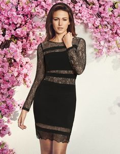 840b8ff444d Buy Michelle Keegan Lace Panel Shift Dress from the Next UK online shop