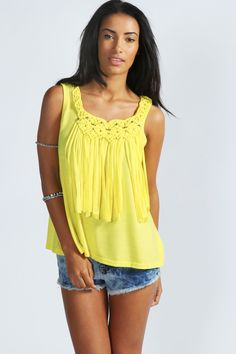 Sophie Beaded + Tassel Tank Top