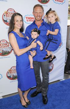 Ian Ziering & Family Arrive At 'Thomas & Friends' Premiere We Are Family, Happy Family, Summer Sunglasses, Oakley Sunglasses, Best Tv Shows, Favorite Tv Shows, Ian Ziering, Beverly Hills 90210, Celebrity Moms