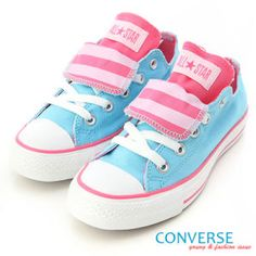 Blue/Pink Converses.reminds me of cotton candy!!