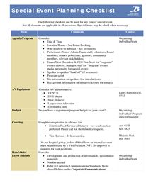 conference planning checklists