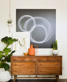 Create unique abstract wall art with Sharpie + wood.