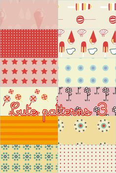 Cute patterns 03 by foley-resources.deviantart.com on @DeviantArt